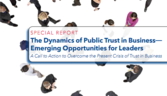 The Dynamics of Public Trust in Business - Emerging Opportunities for Leaders